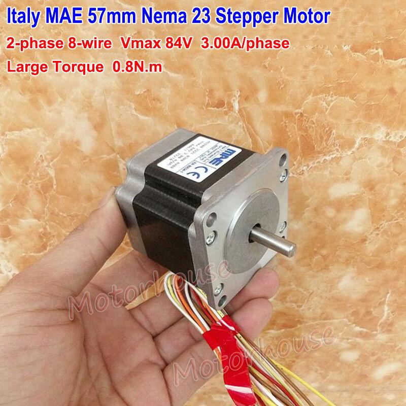 NEMA23 57mm Stepper Motor Hybrid Bipolar 230N.cm 1.8 deg Step Angle 2 Phase CNC