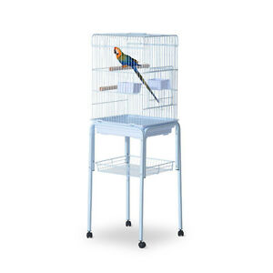 "51"" Bird Cage Large Parrot Macaw Finch Cockatoo Play Top Pet Fee"