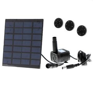 Solar Power Panel Water Pump Kit Fountain Pool Garden Pond Watering UK Shipping
