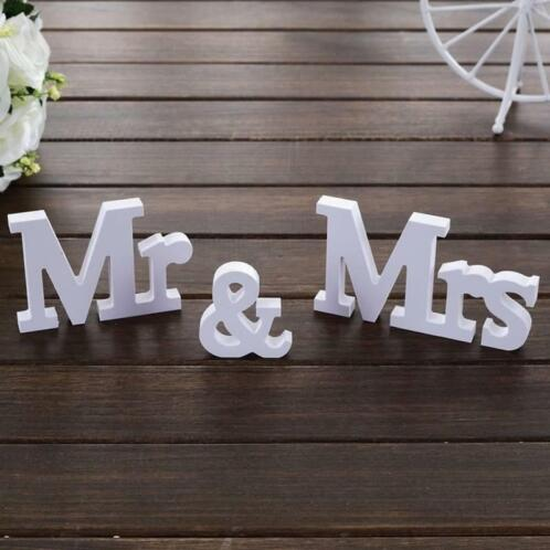 Mr & Mrs Letters - Bruiloft Decoratie (Feestartikelen)
