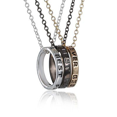 NEW 3 pcs  Best Friends Forever Pendant Friendship Ring Charm Necklace BFF - Best Friends Forever Necklaces