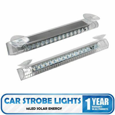 Blitzlicht Frontblitzer Straßenräumer Warnleuchte Strobe Light + Saugnapf 16 LED