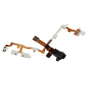 Power Button Headphone Jack Volume Mute Flex Ribbon Cable for iPhone 3GS Black