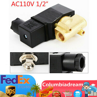 12 Waterproof Industry Electric Solenoid Valve For Water Air Oil Gas Fuel Nc