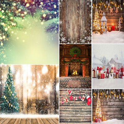 Xmas Printed Vinyl Background Backdrop Cloth Photography Props Winter Snow Scene