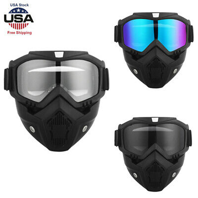 Goggles Face Mask Modular Motorcycle Shield Helmet Riding Sun Glasses (Motorcycle Eyewear)
