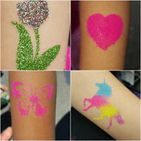 Glitter Tattoos for parties/events.Tatouage temporaire à paille.