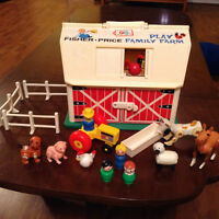 Vintage Fisher Price 1967 play Family Farm