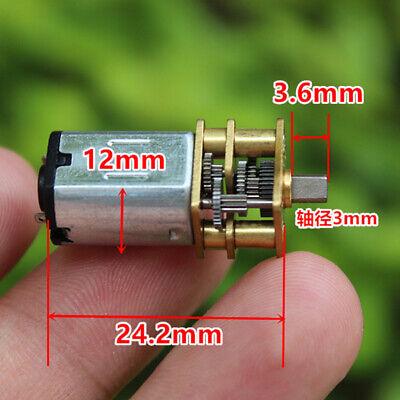 Dc 3v-6v 5v Slow Speed Micro Mini 12mm N20 Metal Gearbox Gear Motor Large Torque