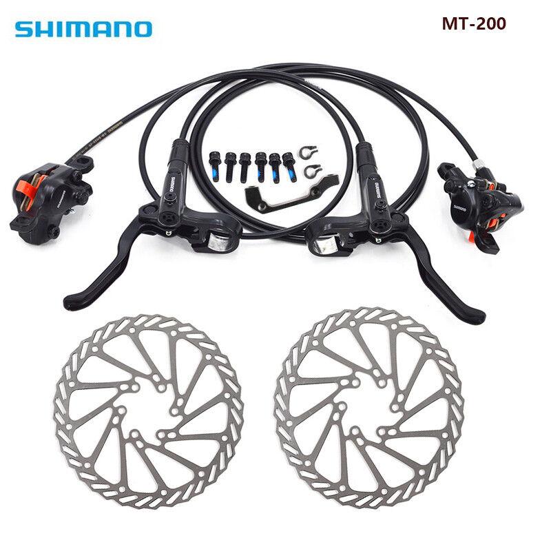Shimano MT200 MTB Bicycle Hydraulic Disc Set Brake Front /& Rear Black W//o G3//HS1