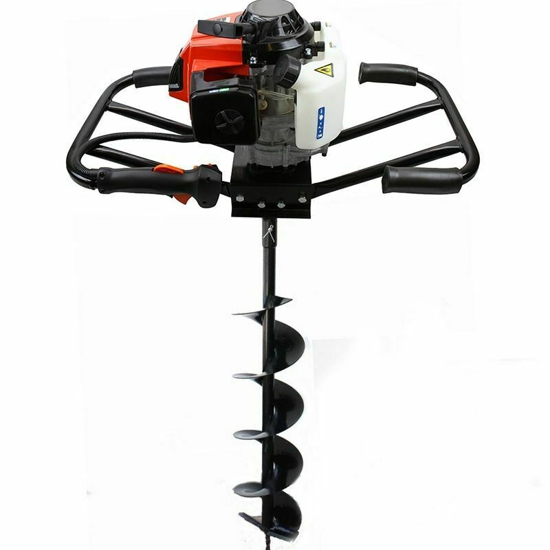 "3HP 63cc EPA Gas Earth 2 Man Post Hole Digger 2 Person + 6"" Auger Bit Machine HD"