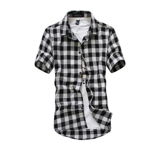 Men Hawaiian Shirt Short Sleeve Summer Beach Casual Floral Button Blouse Tops Clothing, Shoes & Accessories