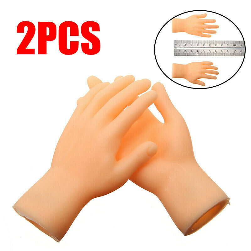 Creative PVC Left Right Hands Feet Finger Puppet Toy Child Baby Model Doll //Neu