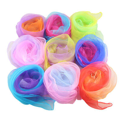 Gradient Square Juggling Silk Dance Scarves Magic Tricks Performance Props - Dance Scarves