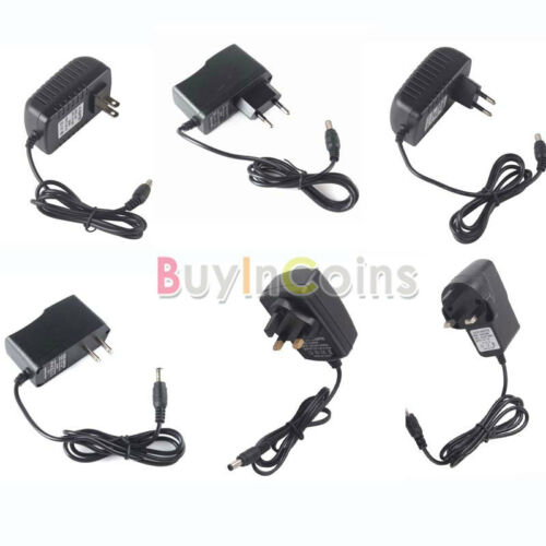 12V 1A/2A Transformer Travel Power Supply Adapter US EU UK Plug