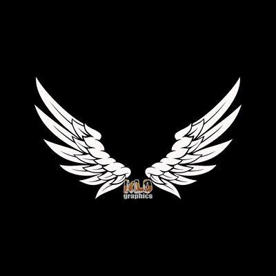 Engel Flügel Ausbreitung Vinyl Aufkleber / Religion für Fenster Glas Auto Lkw