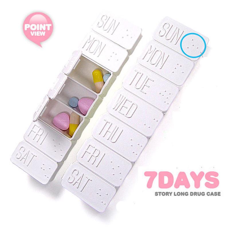 7 Tage Groß Reisen Tabletten Pillenbox Medizin Aufbewahrung Dose wöchentlich