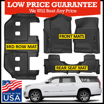 Husky Liners X-Act Contour Floor Mats Bundle for 2015-2019 Cadillac Escalade ESV