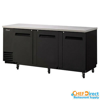 Turbo Air Tbb-4sb-n 90 3 Door Solid Back Bar Cooler