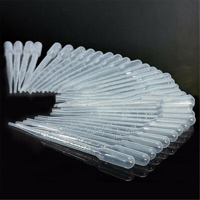 200pcs 3ml Disposable Plastic Eye Dropper Set Transfer Graduated Pipettes
