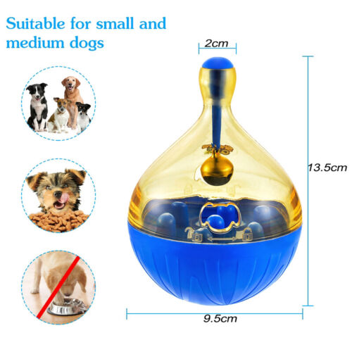 Pet Dog Fun Bowl Feeder Cat Feeding Toys Pets Tumbler Leakage Food Ball PYT TEUS