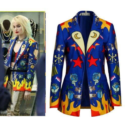 Birds Of Prey Costume Harley Quinn Cosplay Women Jacket Outfit Suit Coat New Ebay