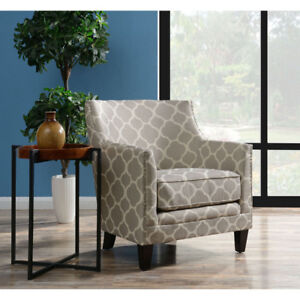 Dinah Transitional Accent Chair - Grey New in Box