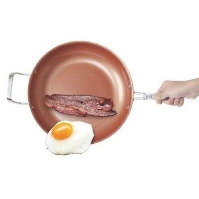 "Non-Stick 10.5"" Titanium Ceramic Copper Fry Pan No Oil/Butter,Steel Base!"