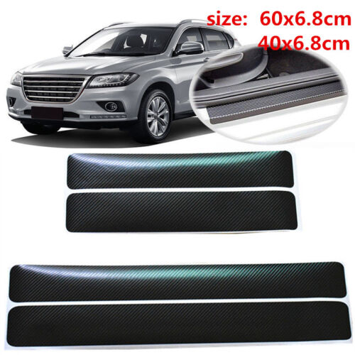 Car Parts - Car Parts Accessories Carbon Fiber Vinyl Car Door Plate Sill Scuff Cover Sticker