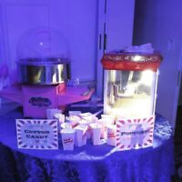 Popcorn and Cotton Candy Machine, Bouncy Castle, PHOTOBOOTH