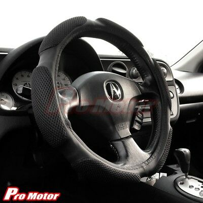 Black Steering Wheel Cover Protector Hand Pad Buffer Cushion Leather Slip-On P2 Mini Steering Wheels