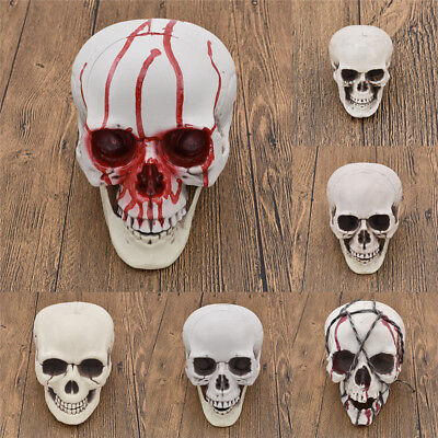 Plastic Skull Horror Ghost Scary Halloween Home Party Decorative Supplies