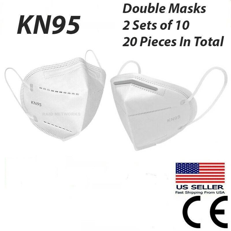 Kn95 Double Mask Set Disposable Protective Filter Respirator Face Cover Kn 95