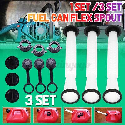 3 Pcs Replacement Gas Fuel Can Spouts Cap Parts Kit Blitz Rubbermaid Rubbermade