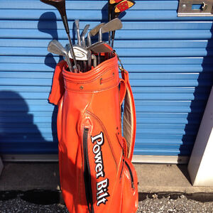 LOUISVILLE GOLF BAG--POWER BILT-SET OF CLUBS-LIMITED EDITION