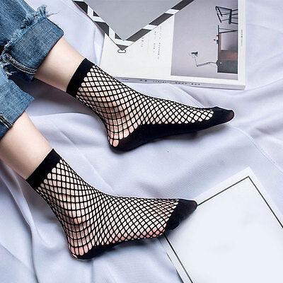 Fashion Lady Fishnet Ankle High Socks Harajuku Goth Punk Hollow Socks Hot Sale