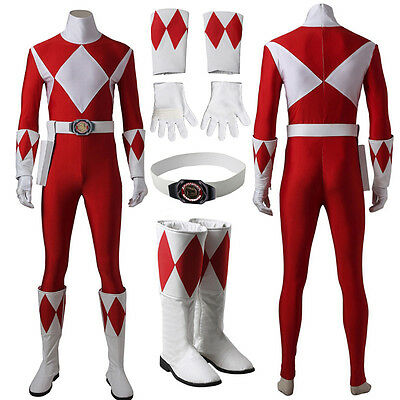 Power Red Ranger Cosplay Costume ()
