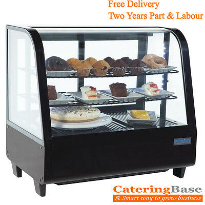 Countertop display fridge food beverage sandwich cake drink bar chiller fridge