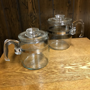 Pyrex Coffee Pots (2 for $50)