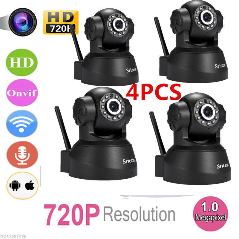 4 OEM Set of Sricam 720P Wireless IP Camera WiFi Security Ni