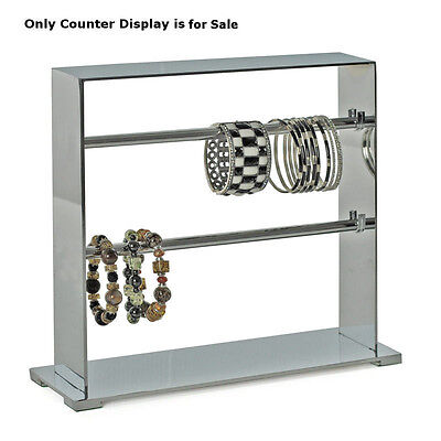 Retail 2-tier Chrome Metal Bracelet Display Bars 13.25w X 4d X 11.25h