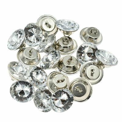 - 100Pc Crystal Rhinestone Buttons Shank Button Sofa Decor Decoration Handmade Sew