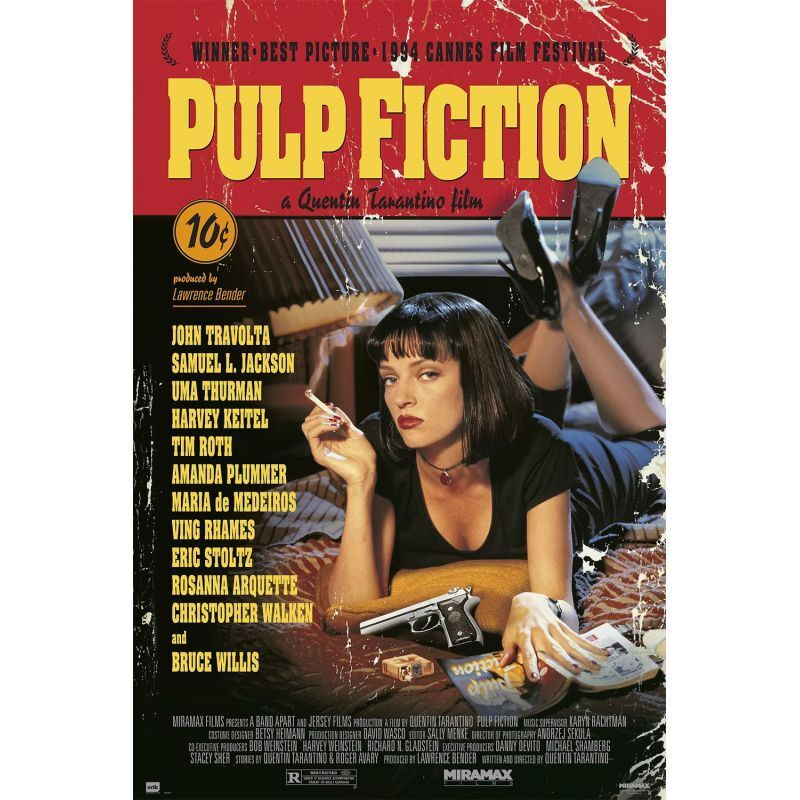PULP FICTION MARVEL Art Silk poster 12x18 24x36