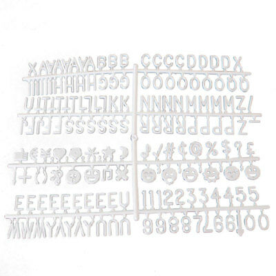 White Premium Changeable Felt Letter Message Board 170pcs Letters Characters