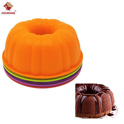 Halloween Bundt Cake (Silicone Pumpkin Cake Pan Mould Chiffon Bundt Cupcake Mold Halloween Baking)