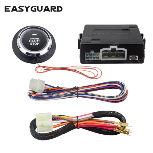 Easyguard push button engine start module compatible W aftermarket key fob DC12V