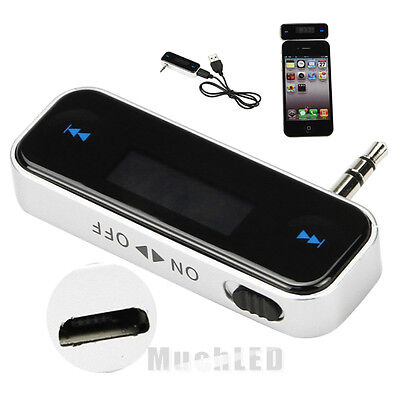 New Wireless Music to Car Radio FM Transmitter For 3.5mm MP3 iPod Phones Tablets on Rummage
