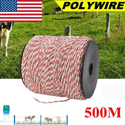 500m Whitered Electric Livestock Fence Wire Stainless Steel Conductive Rope