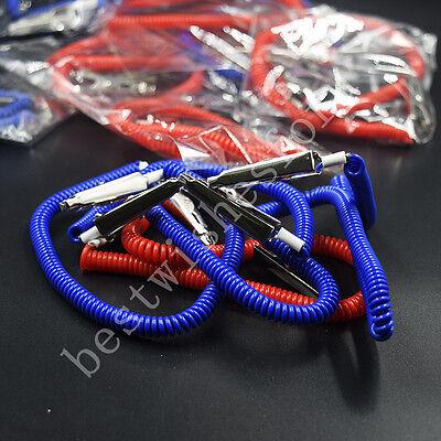 10pc Dental Patient Bib Clips Chains Napkin Neck Flexible Coil Plastic Spring