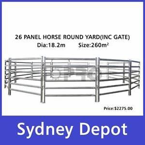 26pcs Horse Round Yard Panel Inc Gate 18.2m Diameter Smithfield Parramatta Area Preview